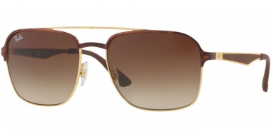 Sunglasses - Ray-Ban® - Ray-Ban® RB3570 - 900813 GOLD TOP HAVANA // BROWN GRADIENT