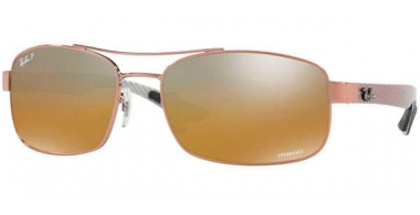 Gafas de Sol - Ray-Ban® - Ray-Ban® RB8318CH - 121/A2 SHINY LIGHT BROWN // BROWN MIRROR GREY GRADIENT POLAROZED