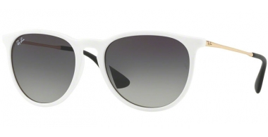 Gafas de Sol - Ray-Ban® - Ray-Ban® RB4171 ERIKA - 631411 SHINY WHITE SP RED // GREY GRADIENT DARK GREY
