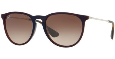 Sunglasses - Ray-Ban® - Ray-Ban® RB4171 ERIKA - 631513 TRASPARENT BROWN SP BLUE // BROWN GRADIENT DARK BROWN