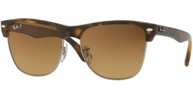 Gafas de Sol - Ray-Ban® - Ray-Ban® RB4175 CLUBMASTER OVERSIZED - 878/M2 DEMI GLOSS HAVANA // BROWN GRADIENT BROWN POLARIZED