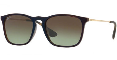 Gafas de Sol - Ray-Ban® - Ray-Ban® RB4187 CHRIS - 6315E8 TRANSPARENT BROWN SP BLU // GREEN GRADIENT BROWN
