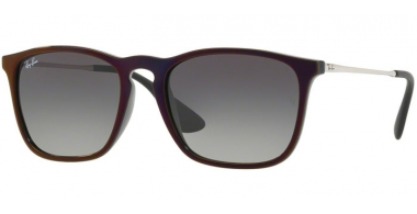 Gafas de Sol - Ray-Ban® - Ray-Ban® RB4187 CHRIS - 631611 BLACK SP RED // GREY GRADIENT DARK GREY