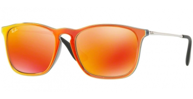 Gafas de Sol - Ray-Ban® - Ray-Ban® RB4187 CHRIS - 63206Q GREY MIRROR FLASH ORANGE // BROWN MIRROR ORANGE