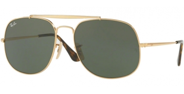 Gafas de Sol - Ray-Ban® - Ray-Ban® RB3561 GENERAL - 001 GOLD // GREEN