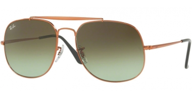 Gafas de Sol - Ray-Ban® - Ray-Ban® RB3561 GENERAL - 9002A6 MEIDIUM BRONZO // GREEN GRADIENT BROWN
