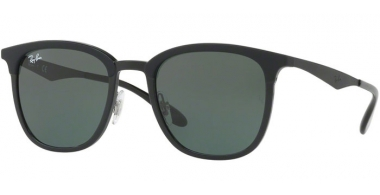 Sunglasses - Ray-Ban® - Ray-Ban® RB4278 - 628271 BLACK MATTE BLACK //  GREEN