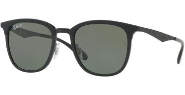 Sunglasses - Ray-Ban® - Ray-Ban® RB4278 - 62829A BLACK MATTE BLACK // GREEN POLARIZED