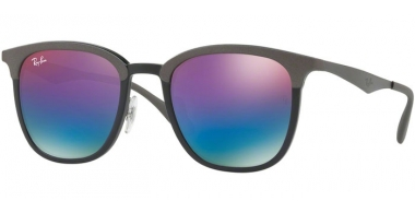 Sunglasses - Ray-Ban® - Ray-Ban® RB4278 - 6284B1 BLACK MATTE GREY // GREEN MIRROR BLUE GRADIENT VIOLET