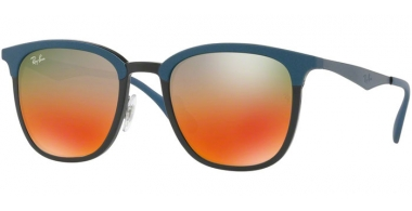 Sunglasses - Ray-Ban® - Ray-Ban® RB4278 - 6286A8 BLACK MATTE BLUE // LIGHT BROWN MIRROR RED GRADIENT