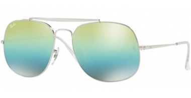 Gafas de Sol - Ray-Ban® - Ray-Ban® RB3561 GENERAL - 003/I2 SILVER // GREEN MIRROR BLUE GRADIENT GREY