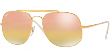 Gafas de Sol - Ray-Ban® - Ray-Ban® RB3561 GENERAL - 9001I1 LIGHT BRONZE // GREEN MIRROR GOLD GRADIENT PINK