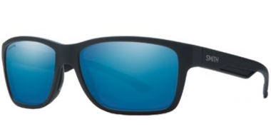Sunglasses - Smith - WOLCOTT - DL5  (W5)  MATTE BLACK // BLUE MIRROR ChromaPop+