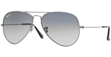 Gafas de Sol - Ray-Ban® - Ray-Ban® RB3025 AVIATOR LARGE METAL - 004/78  GUNMETAL // CRYSTAL BLUE GRADIENT GREY POLARIZED