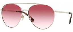 Sunglasses - Burberry - BE3115 GLOUCESTER - 11098D PALE GOLD // CLEAR GRADIENT PINK