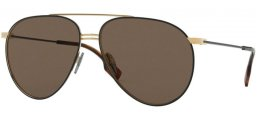 Sunglasses - Burberry - BE3108 - 1293/3 GOLD MATTE BLACK // BROWN