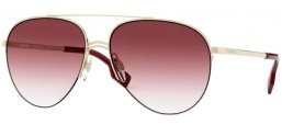 Sunglasses - Burberry - BE3113 FERRY - 11098H LIGHT GOLD // CLEAR GRADIENT DARK VIOLET
