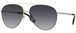 Sunglasses - Burberry - BE3113 FERRY - 13038G SILVER GOLD // GREY GRADIENT