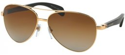 Sunglasses - Bvlgari - BV5032TK - 393/T5 GOLD PLATED // BROWN GRADIENT POLARIZED