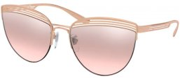 Sunglasses - Bvlgari - BV6118 - 20147E PINK GOLD // LIGHT PINK GRADIENT MIRROR SILVER