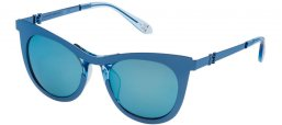 Sunglasses - Carolina Herrera New York - SHN043M - R70B  SHINY BLUE // BROWN ICE MIRROR