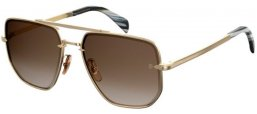 Sunglasses - David Beckam Eyewear - DB 7001/S - J5G (HA) GOLD // BROWN GRADIENT
