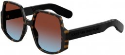 Sunglasses - Dior - DIORINSIDEOUT1 - 086 (YB) DARK HAVANA // BLUE RED GRADIENT