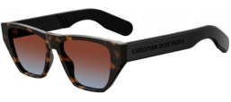 Sunglasses - Dior - DIORINSIDEOUT2 - 086 (YB) DARK HAVANA // BLUE RED GRADIENT