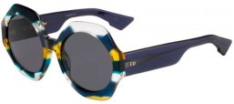 Lunettes de soleil - Dior - DIORSPIRIT1 - WEZ (2K) DARK BLUE MULTICOLOR // GREY ANTIREFLECTION