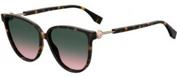 Sunglasses - Fendi - FF 0345/S - 086 (JP) DARK HAVANA // GREEN GRADIENT PINK
