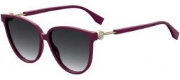 Sunglasses - Fendi - FF 0345/S - 0T7 (9O) PLUM // DARK GREY GRADIENT