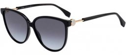 Sunglasses - Fendi - FF 0345/S - 807 (GB) BLACK // GREY GRADIENT AZURE