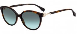 Sunglasses - Fendi - FF 0373/S - 086 (EQ) DARK HAVANA // GREEN AQUA