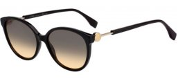 Sunglasses - Fendi - FF 0373/S - 807 (GA) BLACK // BROWN OCHRE GRADIENT