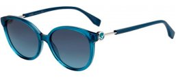 Sunglasses - Fendi - FF 0373/S - ZI9 (GB) TRANSPARENT BLUE // GREY BLUE GRADIENT