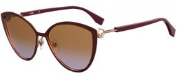 Sunglasses - Fendi - FF 0413/S - FG4 (QR) BROWN GOLD // BRORWN GRADIENT VIOLET