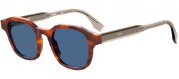 Sunglasses - Fendi - FF M0070/S - 086 (KU) DARK HAVANA // BLUE GREY