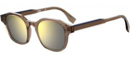 Sunglasses - Fendi - FF M0070/S - 79U (T4) MUD // SILVER MIRROR