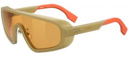 Sunglasses - Fendi - FF M0084/S - 1ED (7Y) GREEN // GOLD DECORED