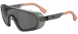 Sunglasses - Fendi - FF M0084/S - KB7 (MD) GREY // GREY DECORED
