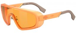 Sunglasses - Fendi - FF M0084/S - L7Q (7Y) ORANGE // GOLD DECORED