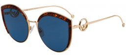 Sunglasses - Fendi - FF 0290/S - J5G (KU) GOLD // BLUE GREY