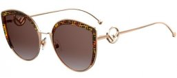 Sunglasses - Fendi - FF 0290/S - VH8 (M2) GOLD BROWN // BROWN GRADIENT PINK