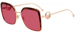 Sunglasses - Fendi - FF 0294/S - DDB (4S) GOLD COPPER // BURGUNDY