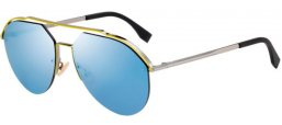Sunglasses - Fendi - FF M0031/S - MVU (3J) SILVER YELLOW // AZURE MIRROR