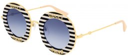 Gafas de Sol - Gucci - GG0113S - 008 BLACK MULTICOLOR // BLUE GRADIENT
