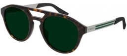 Sunglasses - Gucci - GG0689S - 002 DARK HAVANA // GREEN