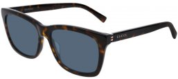 Sunglasses - Gucci - GG0449S - 003 DARK HAVANA // LIGHT BLUE