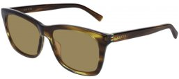 Sunglasses - Gucci - GG0449S - 005 BROWN STRIPED // LIGHT BROWN