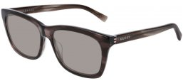 Sunglasses - Gucci - GG0449S - 006 GREY STRIPED // LIGHT GREY